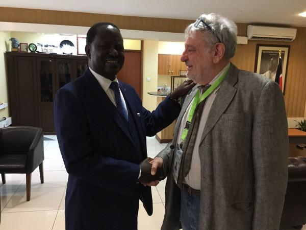 Raila Odinga e Massimo Alberizzi