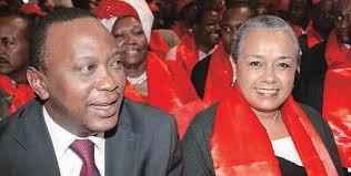 Il presidente del Kenya Uhuru Kenyatta con la moglie Margaret Wanjiru Gakuo