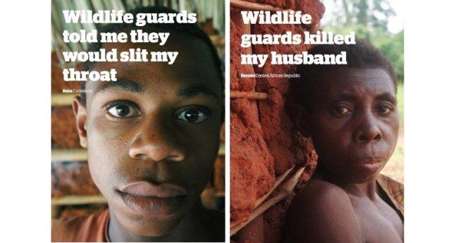 Alcune testimonianze dei pigmei: Le guardie forestali mi hanno detto che mi avrebbero tagliato la gola. I guardaparco hanno ucciso mio marito. (Courtesy Survival International)
