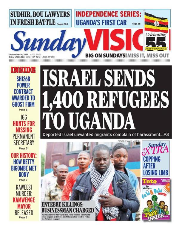 Copia del Sunday Vision, quotidiano governativo ugandese