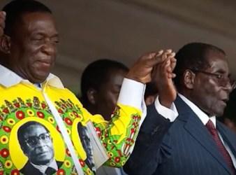 "Emmerson ""The Crocodile"" Mnangagwe (a sin.) e Robert Mugabe"