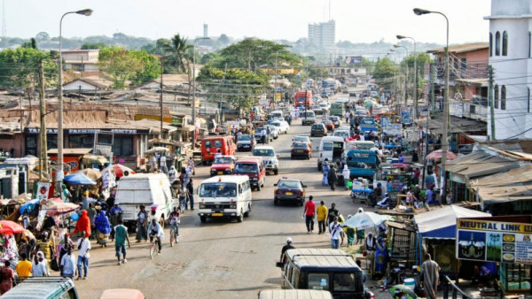 Quartiere periferico di Accra, capitale del Ghana