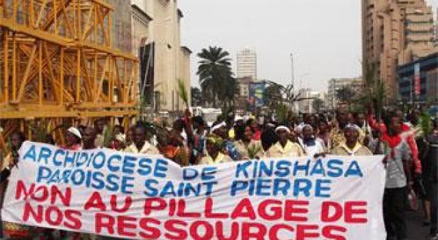 Manifestazione pacifica a Kinshasa, capitale del Congo-K