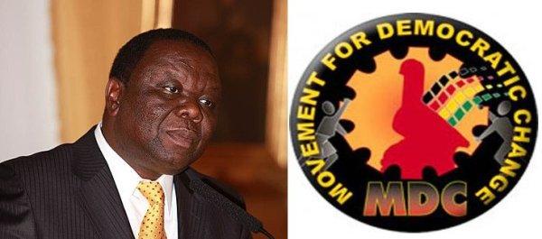Morgan Tsvangirai e il logo del Movement for Democratic Change (Mdc)