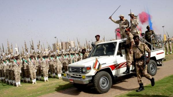 Truppe paramilitari RSF a Kassala, Sudan