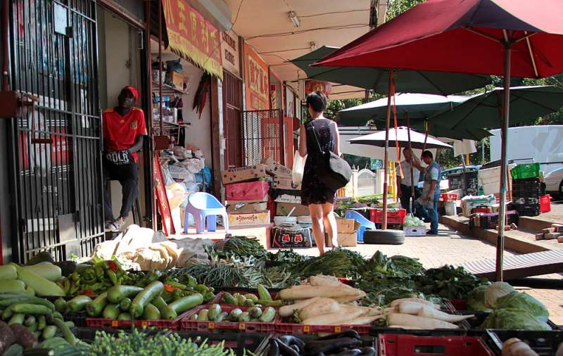 Negozi nella China Town di Città del Capo