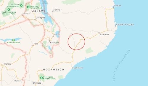 Area selezionata per le circoncisioni in Zambezia