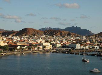 Porto di Mindelo nell'isola di São Vicente a Capo Verde