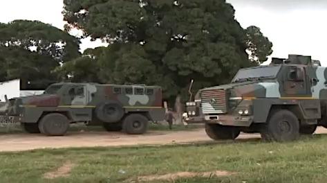 Mezzi militari a Cabo Delgado
