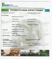 Il permesso di entrata nel Vulcano National Park per visitare la valle dove vivono i gorilla