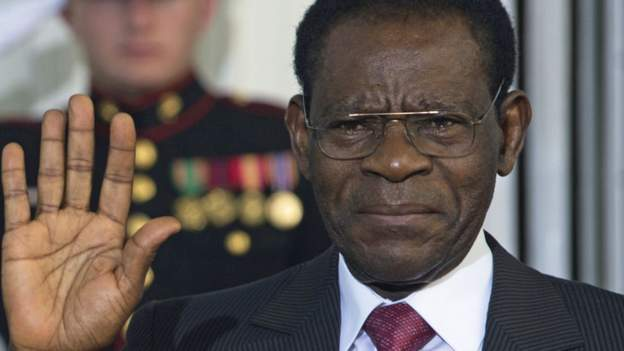 Il presidente della Guinea Equatoriale Teodoro Obiang Nguema Mbasogo