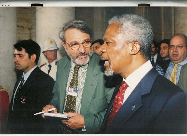 Massimo Alberizzi e Kofi Annan