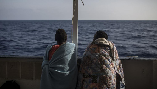 Migranti salvati da una nave ONG