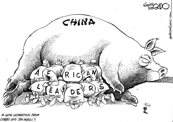 Vignetta di Gado sul Nation: come la corruzione cinese ingrassa la politica