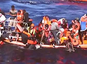 Salvataggio di migranti africani nel Mediterraneo (Courtesy Sos Mediterranée)