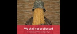 """""""Non ci faranno tacere. In memoria di Ahmed"""" l'immagine della pagina FB di Anas Aremeyaw Anas dedicata al giornalista assassinato (Courtesy Anas Aremeyaw Anas)"""