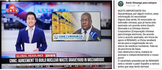 Fake news contro il candidato Ossufo Momade (RENAMO) fatta ci