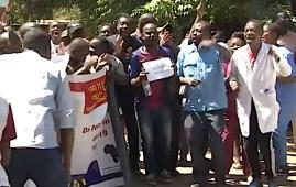 Manifestazione dei medici in Zimbabwe