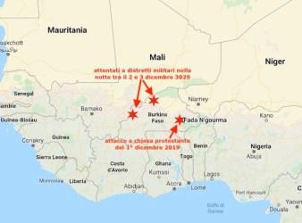 Nella mappa i luoghi degli attentati jihadisti del 1° dicembre e nella notte tra il 2 e 3 dicembre 2019