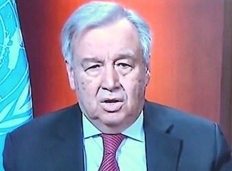 Il Segretario ONU, Antonio Guterrez, su France24 (Courtesy France24)
