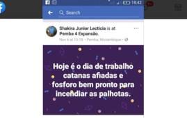 Uno dei post del gruppo Facebook Shakira Junior Lecticia