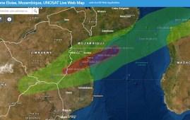 In percorso distruttivo del ciclone tropicale Eloisa