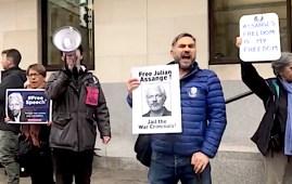 Manifestazione pro Assange