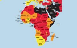 Libertà di stampa mappa Africa RSF 2021