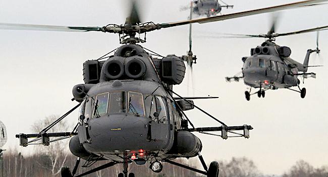 MI-17 in volo