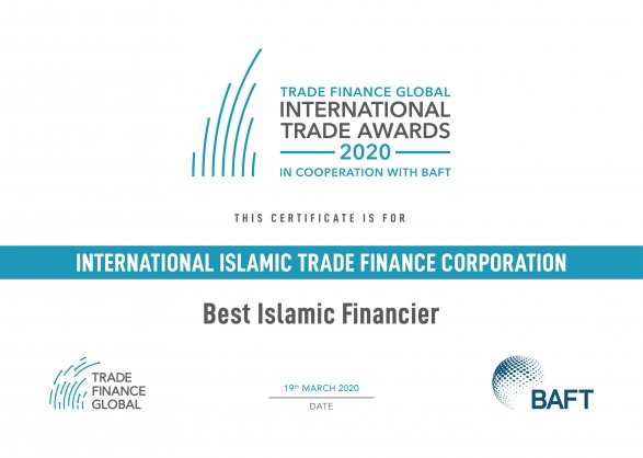 The International Islamic Trade Finance Corporation (ITFC) (www.ITFC-IDB.org), a member of the Islamic Development Bank (IsDB) Group, has been named 'Best Islamic Financier' by the trade finance platform, Trade Finance Global (www.TradeFinanceGlobal.com), in cooperation with BAFT (www.BAFT.org). The international work carried out by banks, financial institutions and technology vendors to enable trade has never been […]