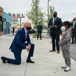 Trending Photo: US Presidential Candidate Joe Biden Kneeling Before Ghanaian Comic Actor Don Little