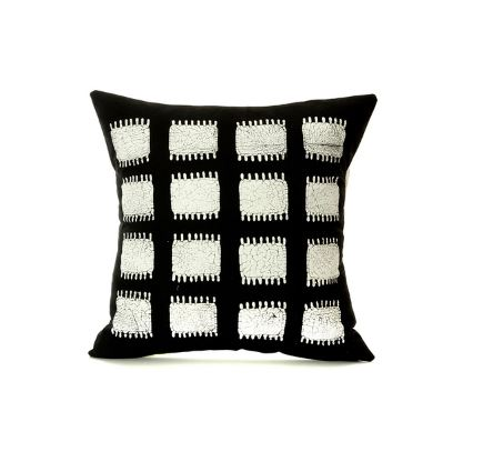 black tribal decorative pillow africa blooms