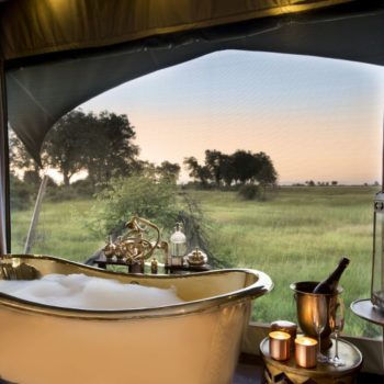 Bubbly for the special occasion at Duba Plains