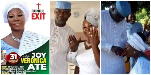 Reactions as woman dies two days after having her court wedding