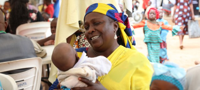 A displaced Nigerian woman is happy that the children she delivered will get birth certificates .