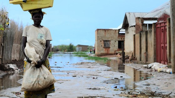 This mother of five, has decided to move, fearful that her home is close to collapse after being flooded.