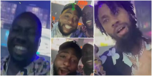 Fans react as Davido is spotted with Obi Cubana and Phyno at a club on his return to the country