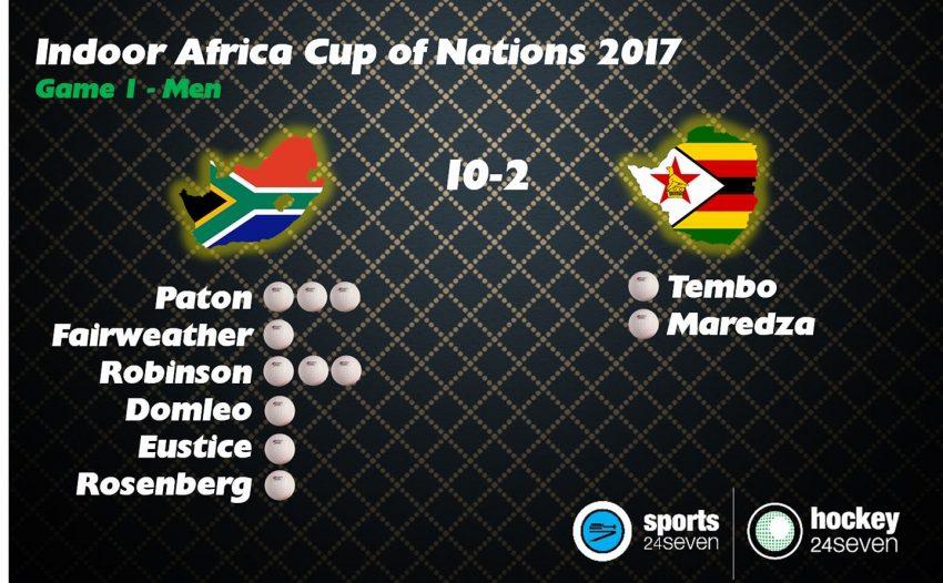 SA Men Win 10-2