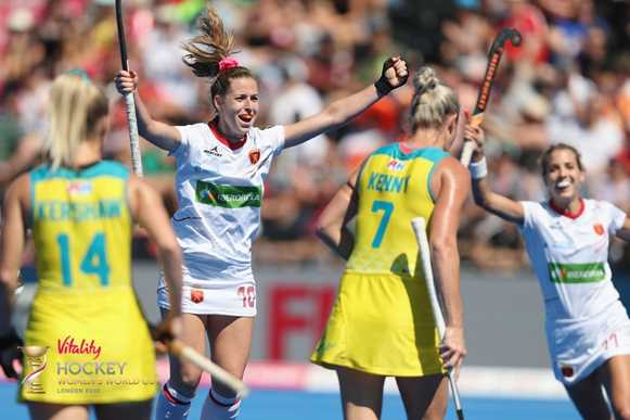 Spain celebrate a first-ever bronze: Pic credit: Getty Images/FIH