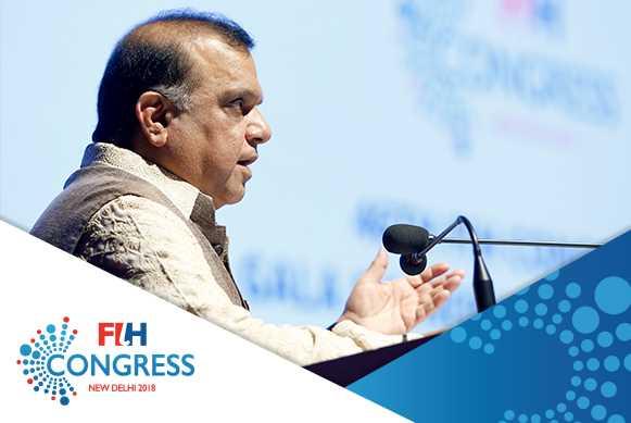 IOC President Thomas Bach amongst winners at FIH Honorary Awards in New Delhi