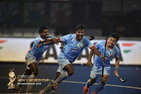 India storm to top of Pool C; Belgium finish second and Canada third in Pool C on Day 11 of Odisha Hockey Men's World Cup Bhubaneswar 2018