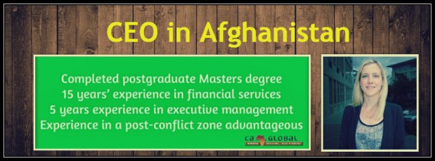 CEO Afghanistan_Jobs in Africa