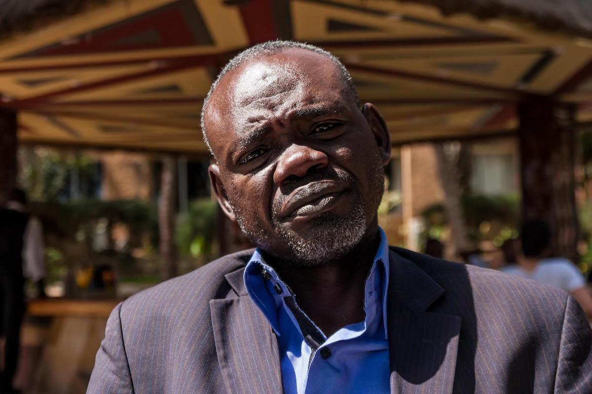 Clement Abaifouta, presidente dell'associazione delle vittime
