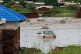 Tropical storm Dineo causes damage in Inhambane Province Mozambique before heading off towards Limpopo river