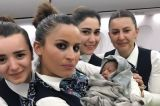 Turkish cabin crew help woman gives birth at 42,000ft