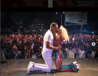 Vanessa Mdee in Trouble for Kissing Hunk Boyfriend Juma Jux On Stage