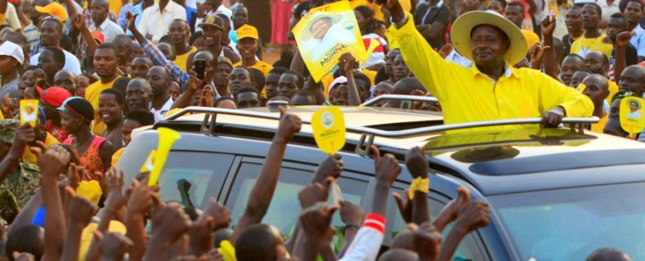 Uganda President's Car Attacked, Damaged in Campaign