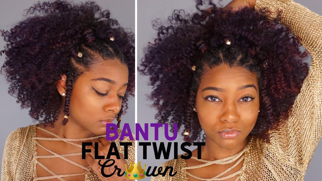 Summer Bantu Knot Flawless Flat Twist Crown Hairstyle