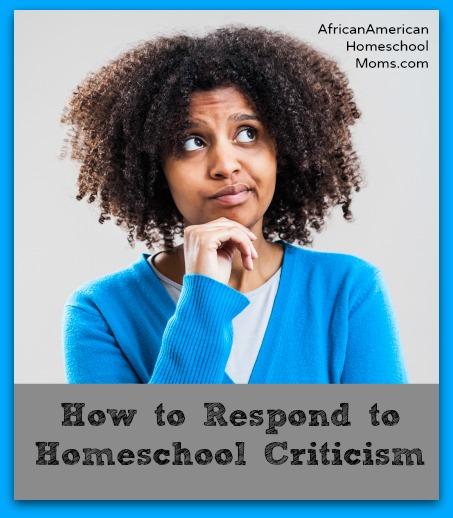 Homeschool Criticism