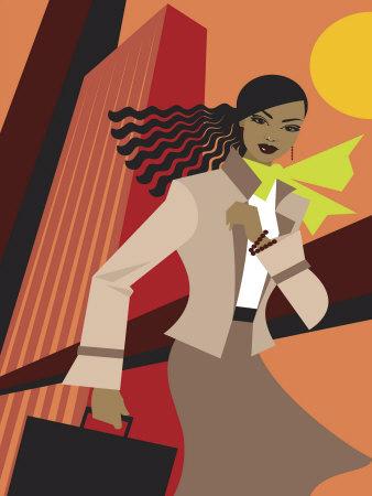Urban Professional Woman in Autumn Business Attire